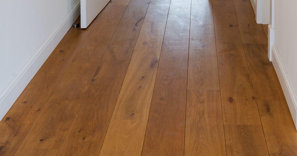 Bright hallway with wooden flooring
